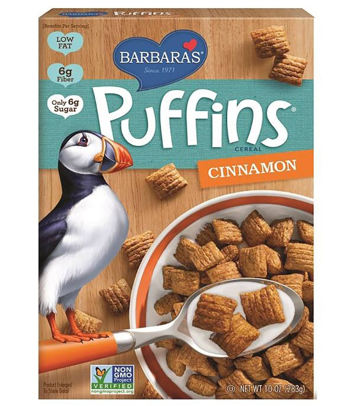 Popular Puffins Cereal by Barbara's Bakery (Review) - dairy-free, vegan, some gluten-free and some peanut-free!