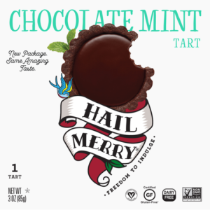 Hail Merry Tarts Reviews and Info - dairy-free, raw, plant-based, vegan, wholesome, rich, sweet desserts. Pictured: Chocolate Mint