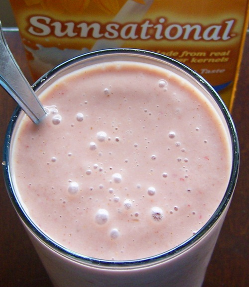 SunButter or Peanut Butter and Strawberry Jelly Smoothie