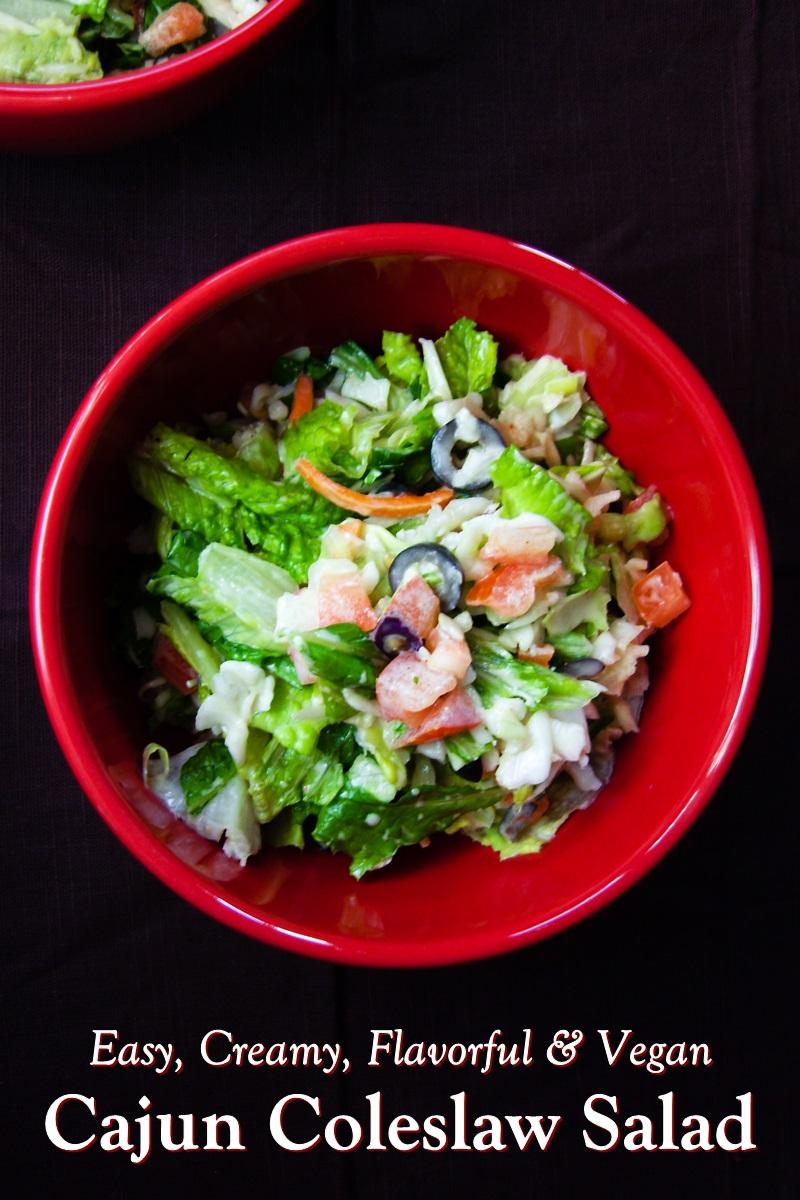 Cajun Coleslaw Salad Recipe - dairy-free, allergy-friendly, gluten-free, and optionally vegan. Easy, creamy, healthy, versatile.