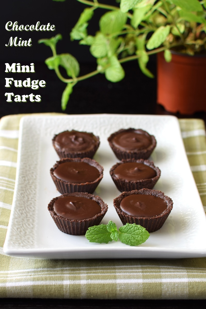 Two-Bite Chocolate Mint Fudge Tartlets Recipe - no bake, dairy-free, gluten-free, vegan and allergy-friendly