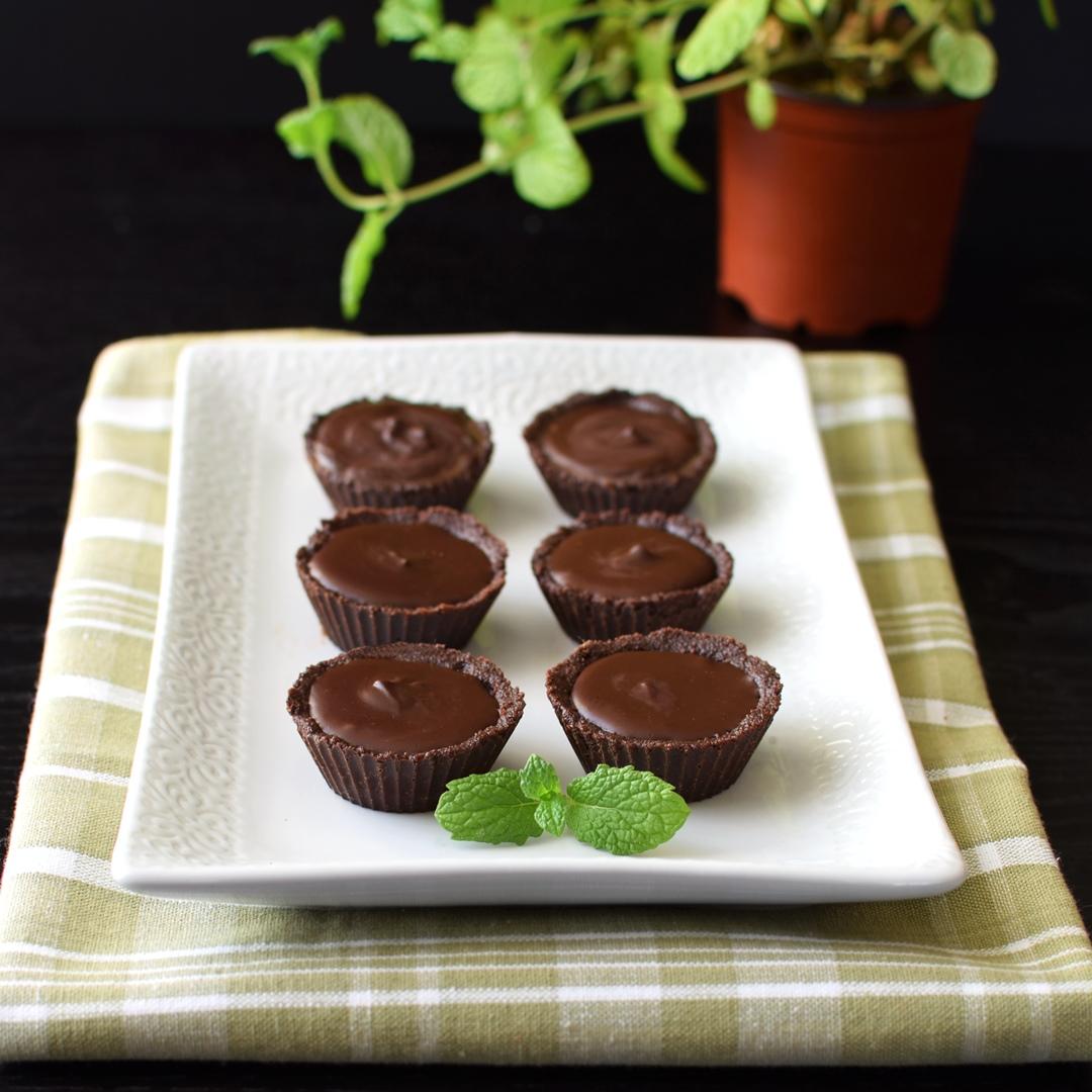 Chocolate Mint Fudge Tartlets Recipe (Dairy-Free & No Bake!)