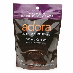 Adora Dark Chocolate Calcium Supplements - Dairy-Free