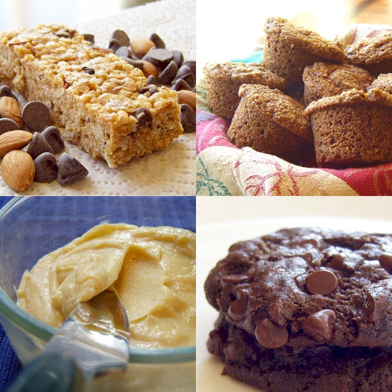 Dairy-Free Lunch Box Recipes - Chewy Granola Bars, Maple Bran Muffins, Cashew Creme Cheeze, Fudge Brownie Cookies