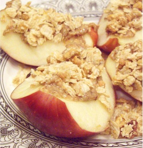 Easy Apple Granola Snacks