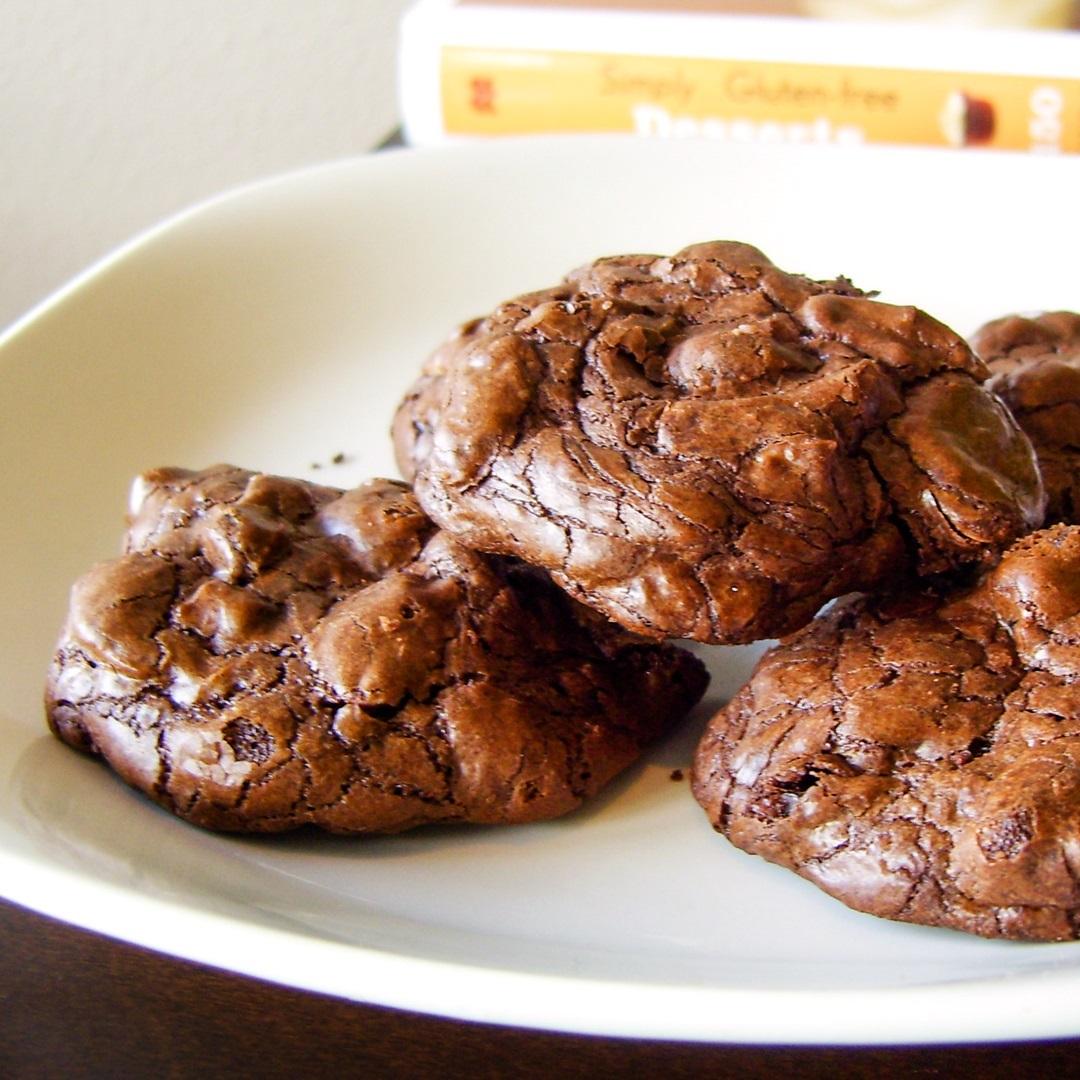 Chocolate Cherry Fudge Drop Cookies from Simply Gluten Free Desserts - sample recipe!