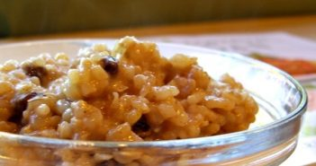 Dairy-Free Cinnamon Raisin Breakfast Risotto