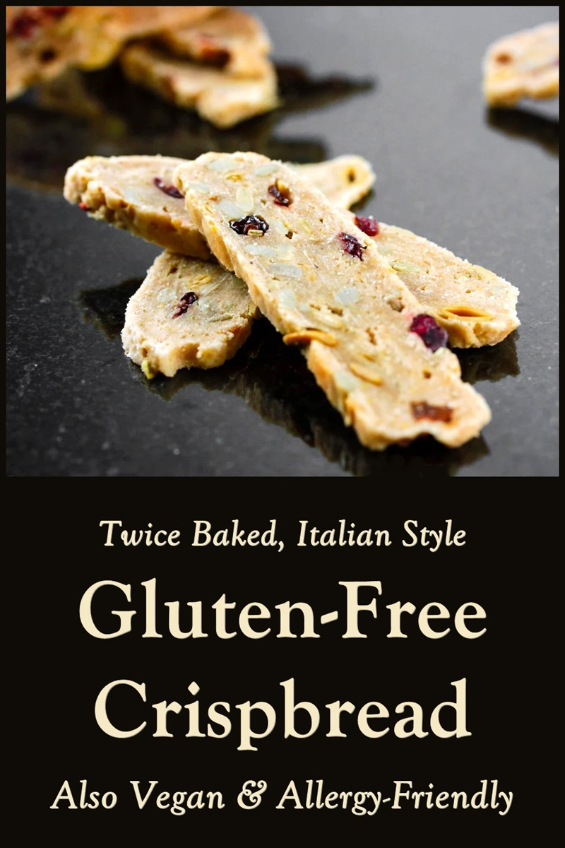 Twice-Baked Gluten-Free Crispbread Recipe - also plant-based, vegan, dairy-free, egg-free, nut-free, and soy-free! Baked Italian-style, like biscotti.