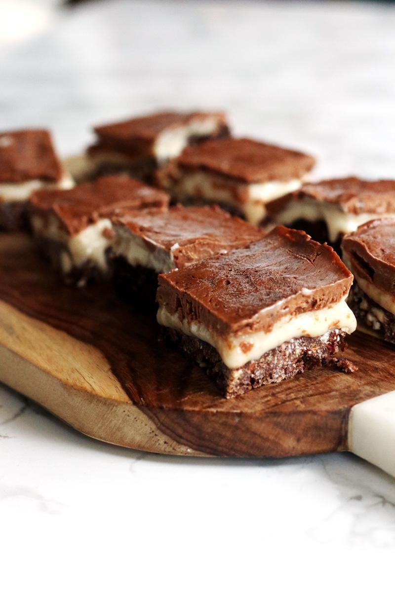 Vegan Nanaimo Bars Recipe - dairy-free, egg-free chocolate custard decadence! (gluten-free and soy-free options)