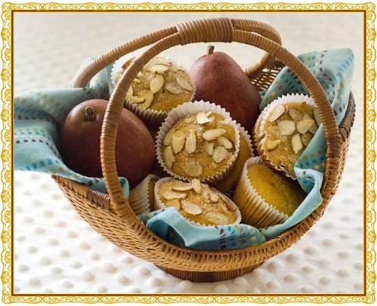 Healthier Whole Grain Gluten-Free Pear Muffins
