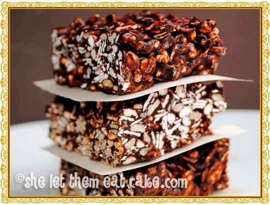Chocolate Cereal Bars - Dairy-Free and Gluten-Free
