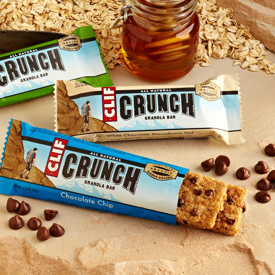 Clif Crunch Granola Bars (Review) - dairy-free flavors like white chocolate macadamia nut and chocolate peanut butter! Sold 2 per pack.