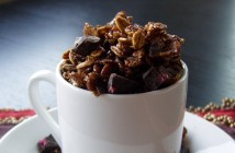 Homemade Chocolate Chocolate Chunk Granola Recipe (naturally dairy-free, vegan and optionally gluten-free)