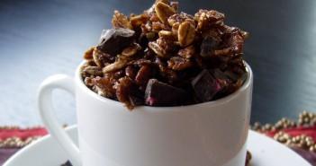 Homemade Chocolate Chocolate Chunk Granola Recipe (naturally dairy-free, vegan and optionally gluten-free)