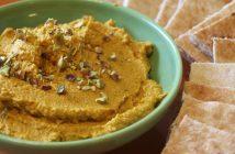 Moroccan-Spiced Pumpkin Hummus (Naturally Dairy-Free + Gltuen-Free Recipe)