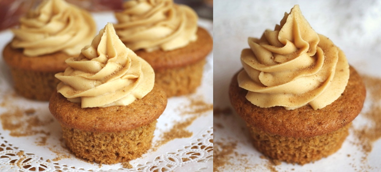 Vegan Maple Cupcakes Recipe with Pure Maple Buttercream - the easy dairy-free buttercream is sweetened only with maple - no powdered sugar!
