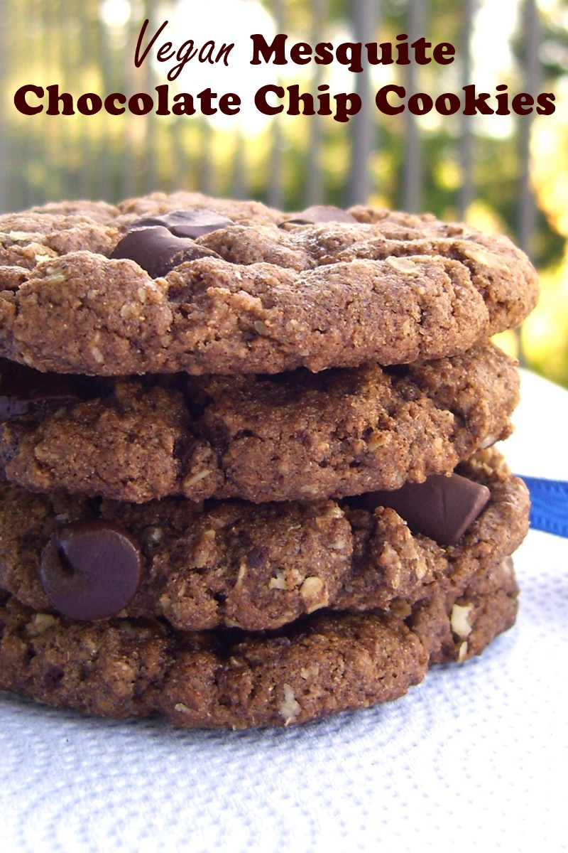 Vegan Mesquite Chocolate Chip Cookies - a delicious iconic recipe without dairy or eggs!