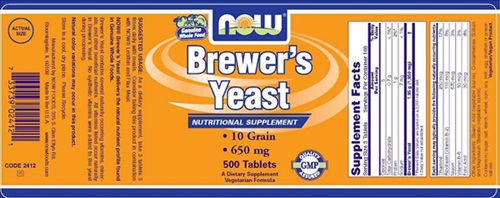 NOW Brewer's Yeast - milk allergen recall