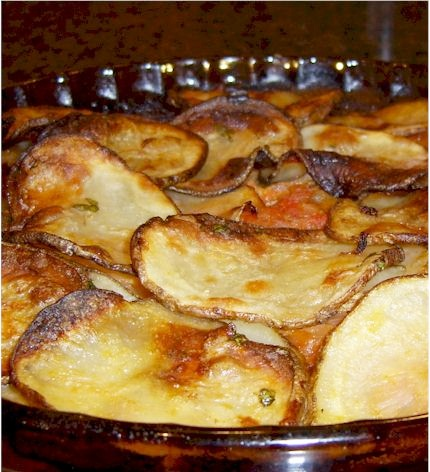 Rustic Potato Tomato Gratin - Dairy-Free and Gluten-Free and Vegan