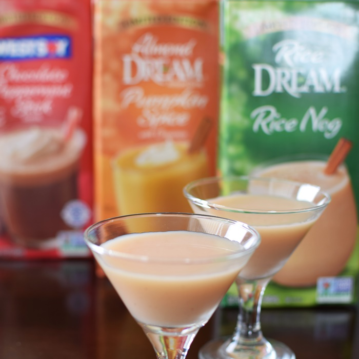 Dairy-Free Holiday Beverages - Rice Dream Nog, Almond Dream Pumpkin Spice, Westsoy Chocolate Peppermint Stick