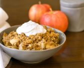 Maple Pecan Apple Crisp that's Butter-less and Naturally Vegan