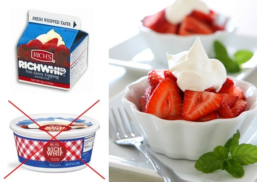 Store-Bought and Homemade Recipe Options for truly Dairy-Free and Vegan Whipped Cream (Rich Whip Whip-from-Carton pictured)