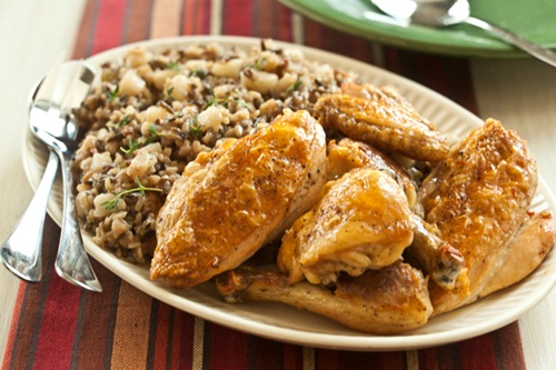Baked Maple Chicken with Pear Pilaf Recipe - Dairy-Free and Gluten-free