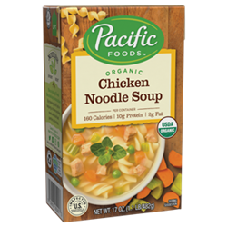 Pacific Foods Hearty Soups Reviews and Info - Dairy-Free Varieties. Pictured: Organic Chicken Noodle