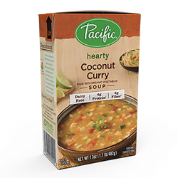 Pacific Foods Hearty Soups Reviews and Info - Dairy-Free Varieties. Pictured: Coconut Curry