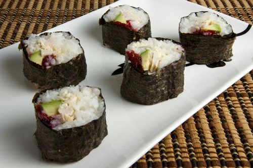 Thanksgiving Leftovers Recipes: Turkey & Cranberry Sushi