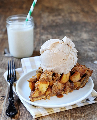 Apple Pie with Pecan Crust - Vegan, Dairy-free, Egg-free