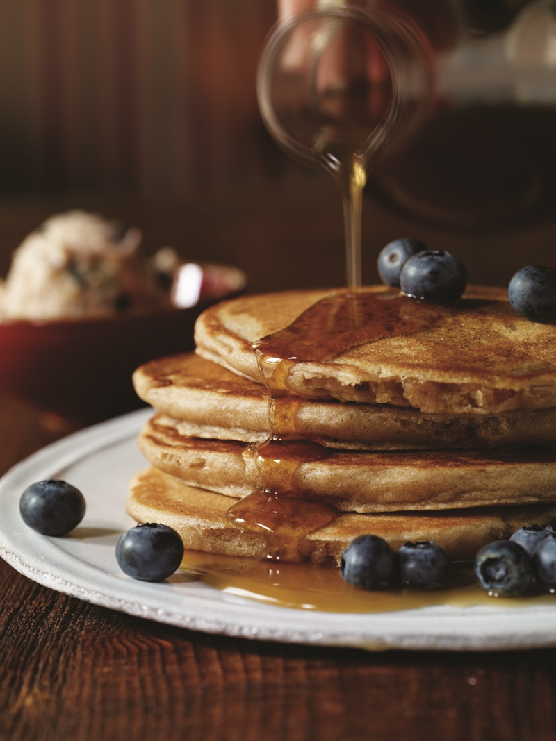 Homestyle Vegan Pancakes with Blueberry Butter - Recipe from Candle 79 Cookbook