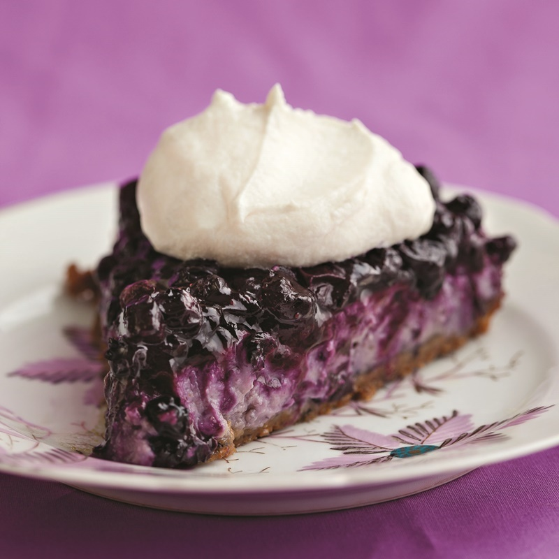 Blueberry Bliss Vegan Cheesecake with Vanilla Cookie Crust - recipe by famed cookbook duo, Isa Chandra Moskowitz and Terry Hope Romero