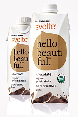 Svelte Organic Soy Protein Shakes - Dairy-Free, gluten-free, vegan, and a light meal replacer. Flavors appeal to kids & adults! (pictured: Chocolate)