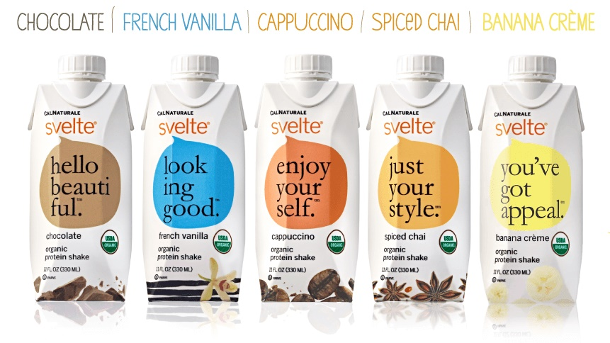 Svelte Organic Soy Protein Shakes - Dairy-Free, gluten-free, vegan, and a light meal replacer. Flavors appeal to kids & adults!