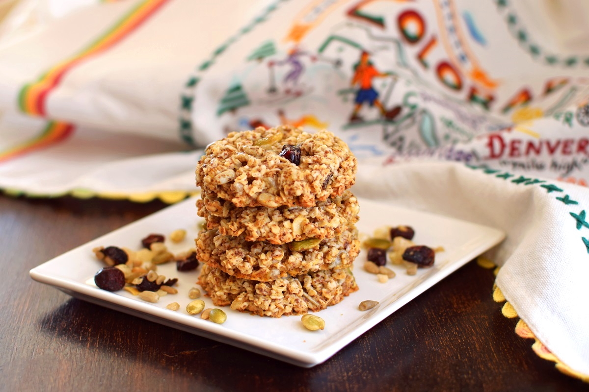 Trail Mix Cookies Recipe - naturally gluten-free, dairy-free, vegan, and allergy-friendly! A snack-worthy, breakfast-worthy treat