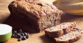 Gluten-Free Vegan Chocolate Chip Banana Bread Recipe (Maple-Sweetened!) - nut-free and no refined sugar #bananabread #quickbread #glutenfreebaking