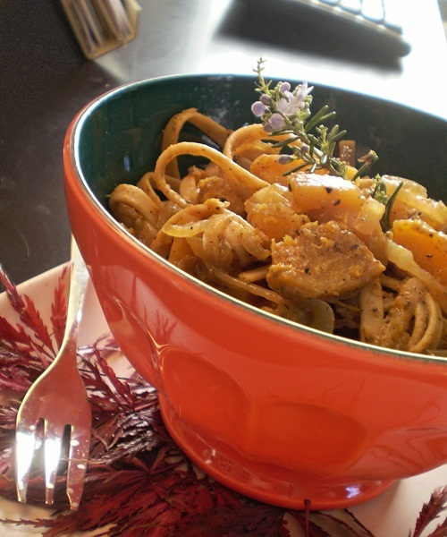 Sage-Scented Fettuccine with Butternut Squash Recipe - Go Dairy Free