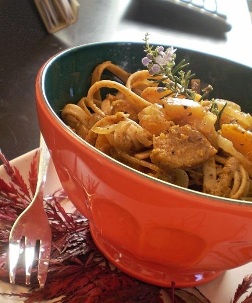 Vegan Sage Fettucine with Butternut Squash - Gluten-Free