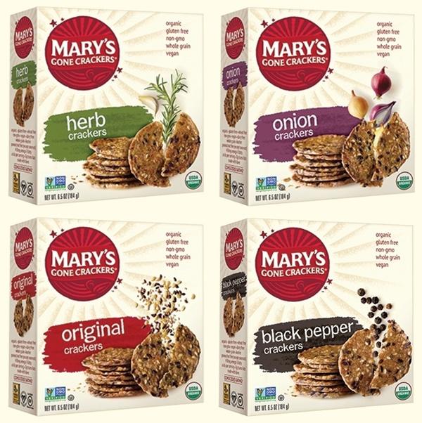 Marys Gone Crackers - Organic Round Gluten-free, Dairy-Free, Vegan Crackers