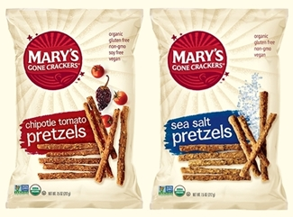 Marys Gone Crackers Pretzels - Organic, Vegan Dairy-Free, Gluten-Free, Allergy-Friendly Snacks