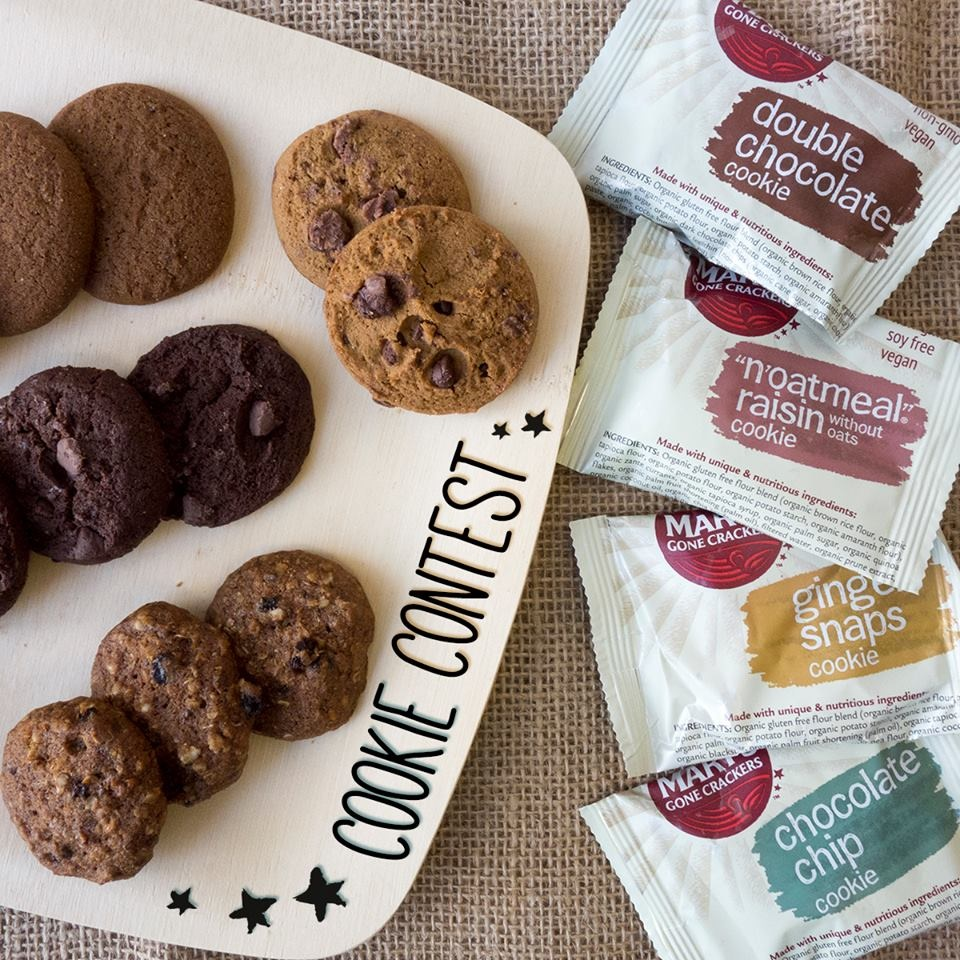 Organic, kosher, gluten-free, vegan, low glycemic … if you think you can't get all of this in a cookie, then you haven't seen Mary's Gone Crackers Cookies.
