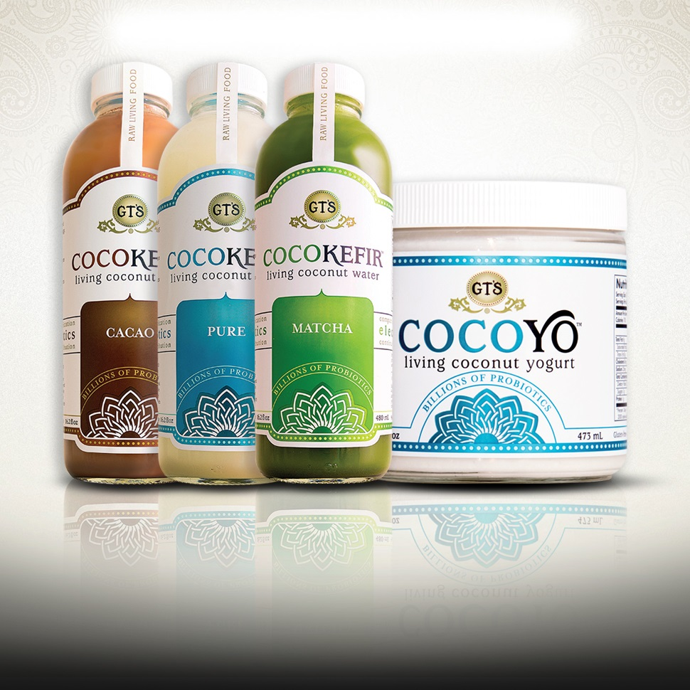 CocoYo Living Coconut Yogurt and CocoKefir Living Probiotic Drinks