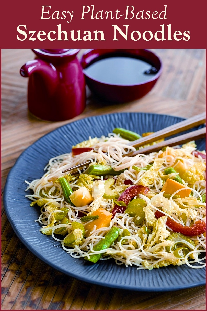 Szechuan Style Vegetable Stir Fry With Rice Noodles Recipe