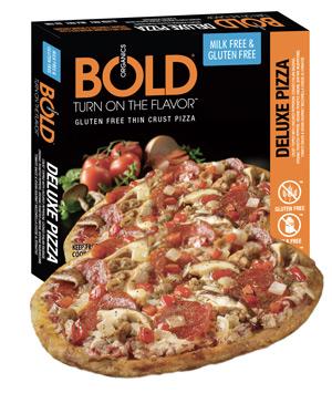 Bold Organics Frozen Pizza (review) - dairy-free gluten-free frozen pizzas
