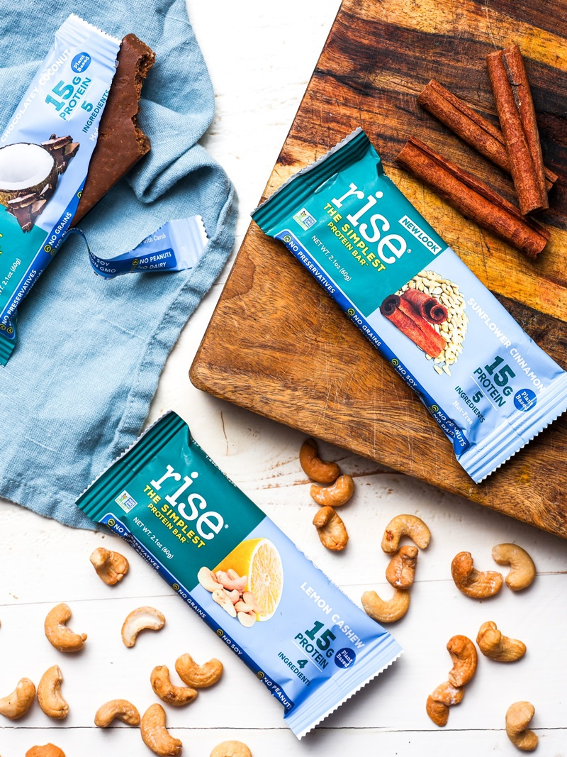 Rise Plant-Based Protein Bars Reviews and Info - dairy-free, gluten-free, grain-free, soy-free, and just 4 to 5 organic ingredients (no dates!)