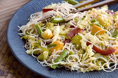 Rice Noodle & Vegetable Stir-Fry Recipe