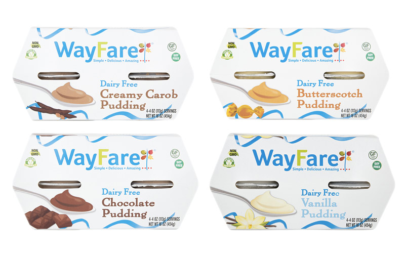 Wayfare Puddings - thick creamy dairy-free vegan puddings!