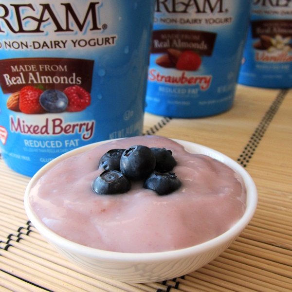 Almond Dream Almond Non-Dairy Yogurt - Mixed Berry, Strawberry, Vanilla (quart sizes, vegan, dairy-free, soy-free)