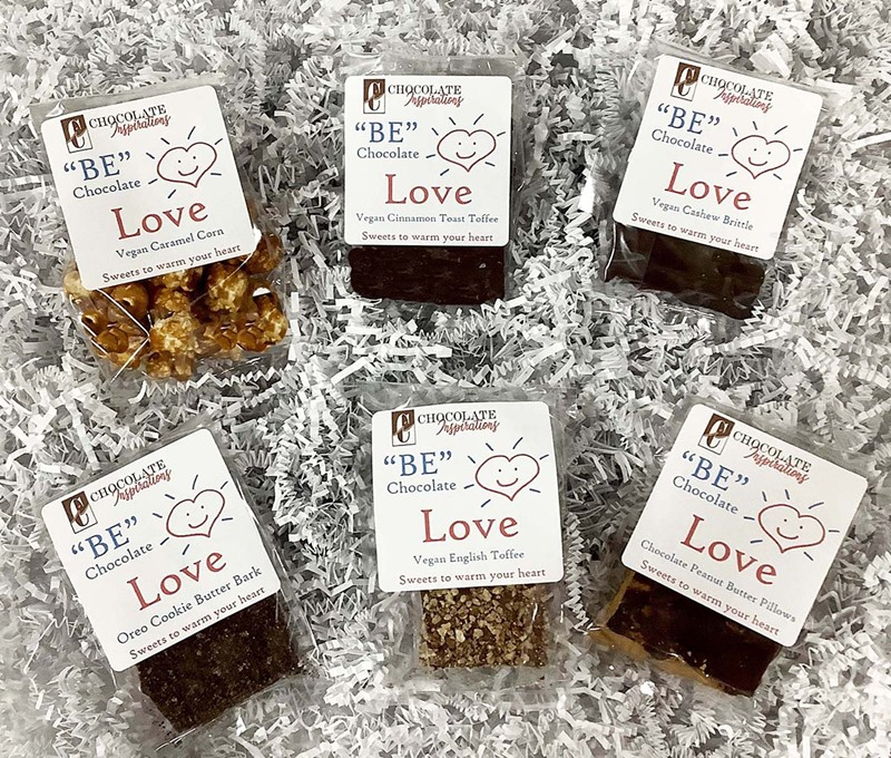 Chocolate Inspirations Vegan Confections Reviews and Info - Dairy-free, gluten-free toffee, brittle, butterfinger alternatives, and much more!